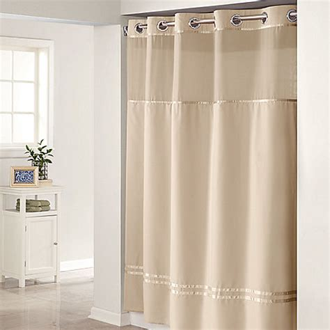 hookless fabric shower curtain with snap liner decor
