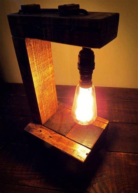 pallet table lamp  edison bulb easy pallet ideas