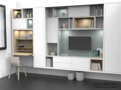 meuble tv avec bureau hegenbart fabricant cuisine salle de bain sur mesure