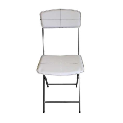 chaises pliables lot de 4 chaises pliables en simili cuir blanc