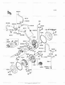 Kawasaki Motorcycle 2003 Oem Parts Diagram For Air Cleaner