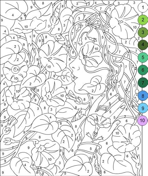 nicoles  coloring pages color  number