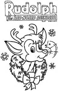 Rudolph Coloring Pages Printable