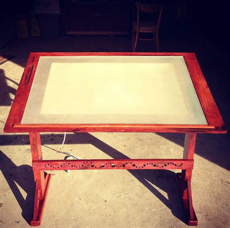 drafting table with lightbox diy lightbox