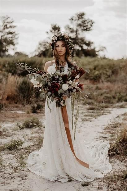 Bohemian Boho Bridal Perfect Gown Floral Choose