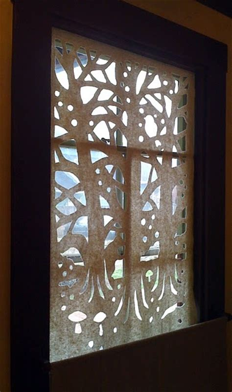 beautiful cut out window coverings this one is made from