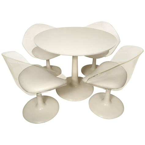 midcentury lucite and tulip base set at 1stdibs