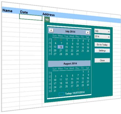 excel date picker  pop  calendar  excel