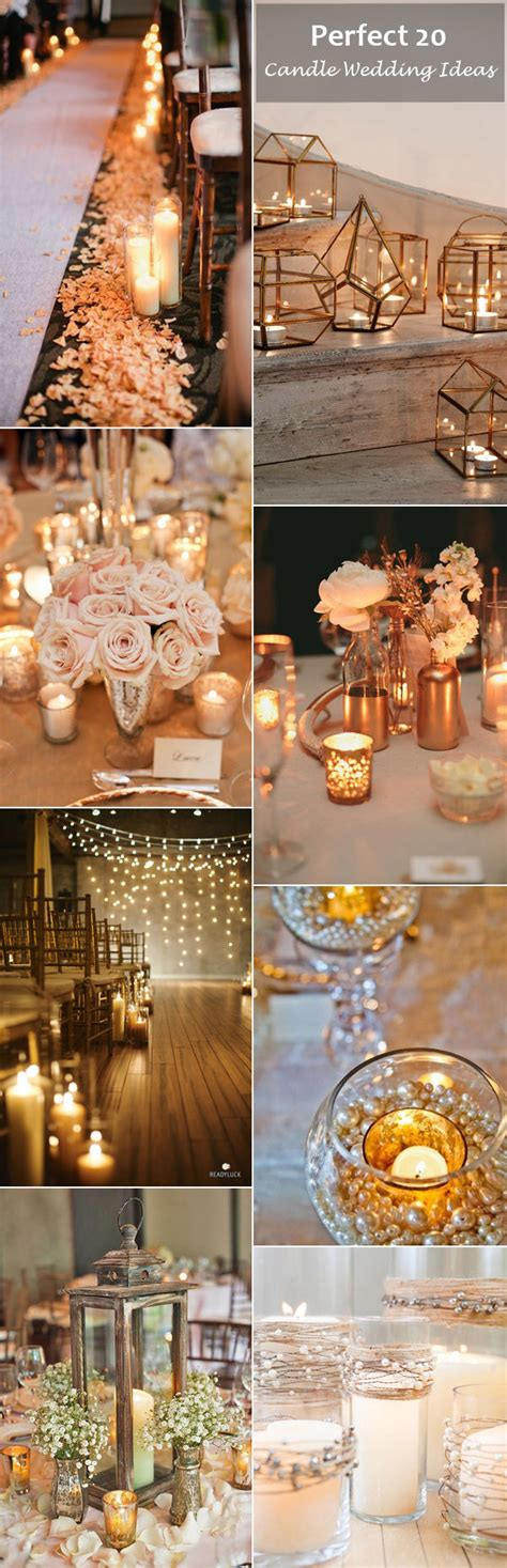 romantic wedding ideas  candles   day