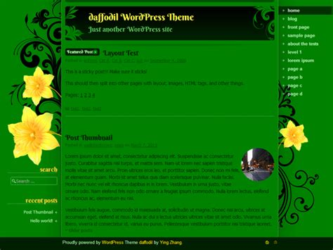 Wordpress Theme Daffodil Pureessencenet