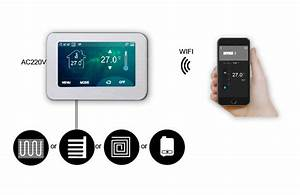 16a 4 3inch Color Touch Programmable Thermostat E