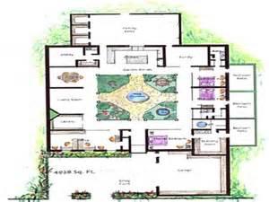 Harmonious Atrium Floor Plans by House Plans With Atrium Garden Homes With Atriums Floor