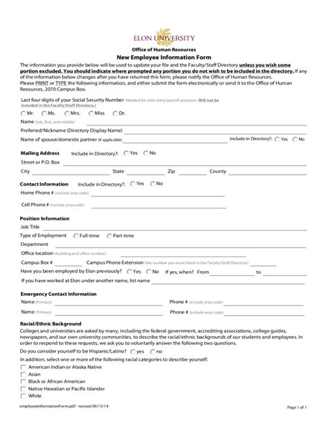 employment information sheet general employee information form 3 free templates in