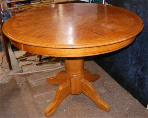 "42"" Inch Round Oak Pedestal Kitchen Dining Foyer"