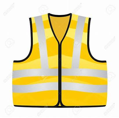 Vest Safety Jacket Clipart Yellow Vector Cliparts