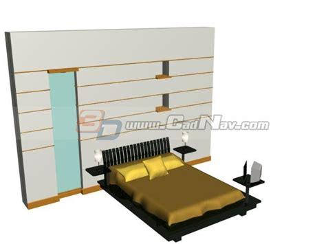 21136 how to make cardboard furniture 002105 bedroom bed and bedside l 3d model 3dmax files