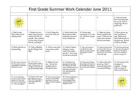 Summer Activities For First Graders  1st Grade Summer Worksheets Free Printables Education