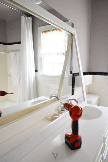 How To Make A Frame For A Bathroom Mirror by How To Build A Wood Frame Around A Bathroom Mirror Reno