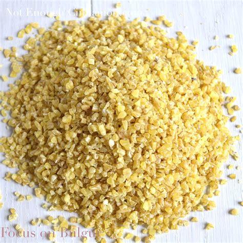 what is bulgur focus on bulgur not enough cinnamon
