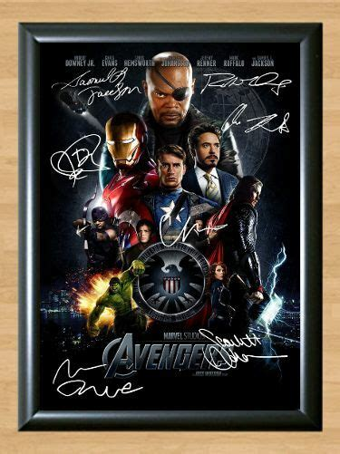 avengers assemble iron man  hulk signed autographed