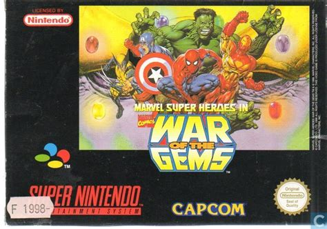 marvel super heroes  war   gems nintendo snes