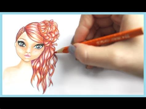topmodel malbuch   draw hair frisur malen