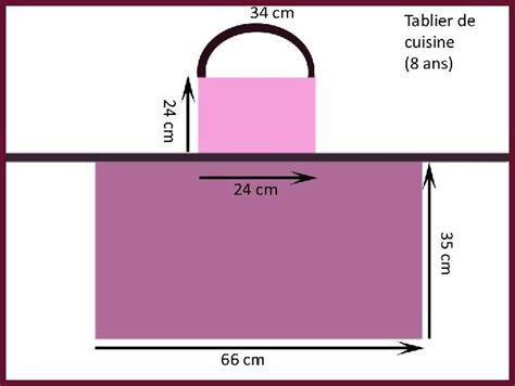 tablier de cuisine pour fille patron couture tablier tablier tablier