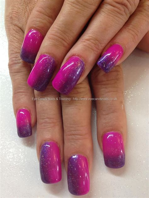 Eye Candy Nails u0026 Training - Gel 49 and peony bouquet gel polish ombru00e9 nails over acrylic by ...