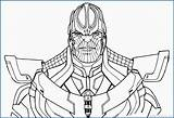 Thanos Colorir Coloring Avengers Infinity Marvel War Fortnite Pintar Printable Desenhos Imprimir Ausmalbilder Vingadores Drawing End Guerra Line Colorear Gauntlet sketch template