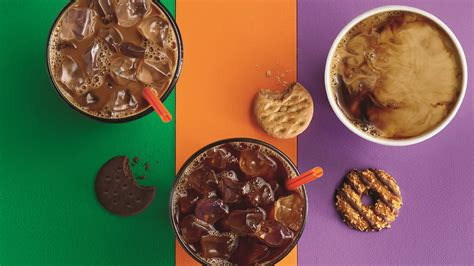 Dunkin' donuts, your resident coffee and baked goods chain, is now joining the likes of starbucks with their brand new bottled iced coffee. Dunkin' Donuts Knows You Can't Say No to Girl Scout Cookies - SheKnows