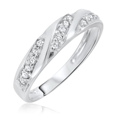 carat tw diamond womens wedding ring  white gold
