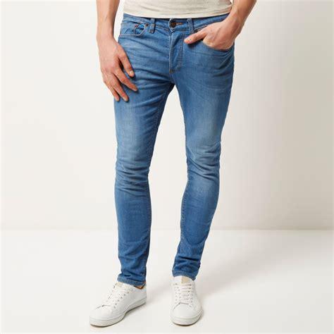 light jeans mens light blue wash sid skinny stretch jeans skinny jeans