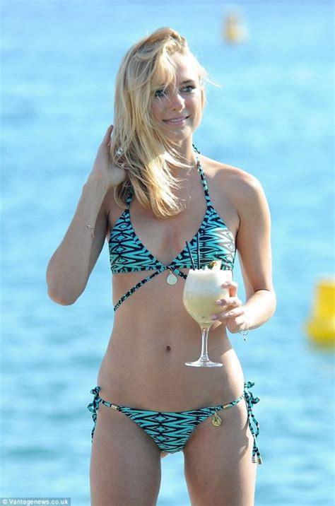 kimberley garner wearing  bikini  france july