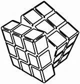 Cube Coloring Clip Rubiks Clipart Rubik Transparent Square Cubes Ice Drawing Printable Kubus Kolorowanki Line Colouring Puzzle Kostka Rubika Tecniche sketch template