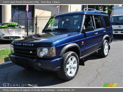 blue land rover discovery oslo blue 2003 land rover discovery hse black interior