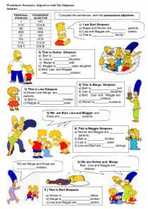 Possessive Adjectives Worksheets