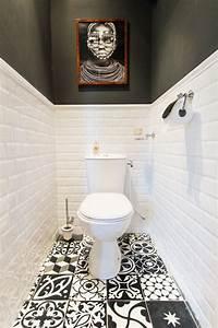 Comment Transformer Ses Wc En Espace Déco : carrelage wc noir et blanc ides ~ Melissatoandfro.com Idées de Décoration