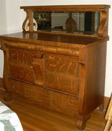 Antique Oak Sideboard Buffet With Mirror by Antique Empire Tiger Oak Dining Room Server Buffet