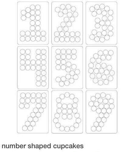 numbers cupcakes template