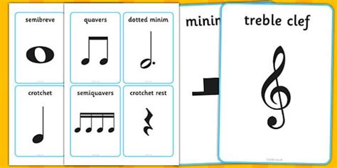 Being sheet music enthusiasts, we wanted to provide some help to those music enthusiasts who are just learning how to play or have played by ear for the staff is the foundation of music notation. Musical Notation Cards - musical note, musical note cards, musical notation, semibreve, minim ...
