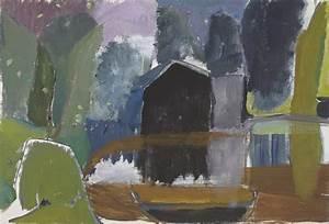 ivon hitchens 1893 1979 boathouse 20th century