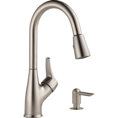 Peerless Kitchen Faucets At Walmart by Peerless Stainless Steel Pulldown Kitchen Faucet Walmart