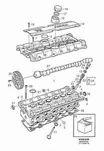 1998 Volvo V90 Service Kit  Cylinder Head  Tappet  Valve