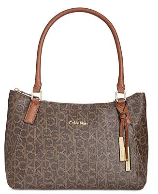 calvin klein monogram satchel handbags accessories