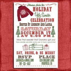holiday christmas ugly sweater party invitation by puzzleprints