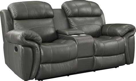 Gray Reclining Loveseat by Gray Reclining Console Loveseat L2655 25 Lgy New
