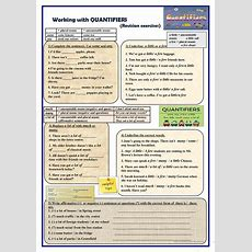 Working With Quantifiers (revision Exercises) Worksheet  Free Esl Printable Worksheets Made By