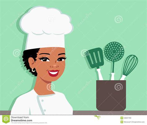 femme chef cuisine chef illustration de cuisine de la participation