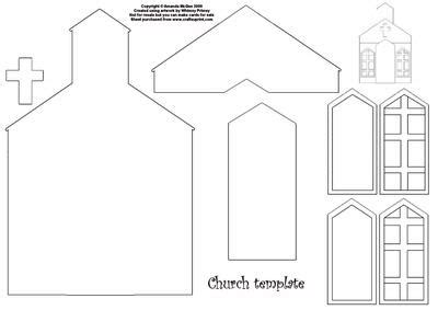 images  paper church template printable paper