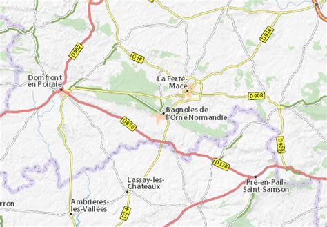 Carte Normandie Michelin by Carte D 233 Taill 233 E Bagnoles De L Orne Normandie Plan